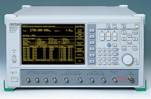 デジタル信号発生器 MG3672A