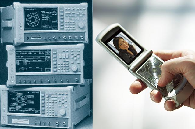 左:デジタル移動無線用測定器シリーズ