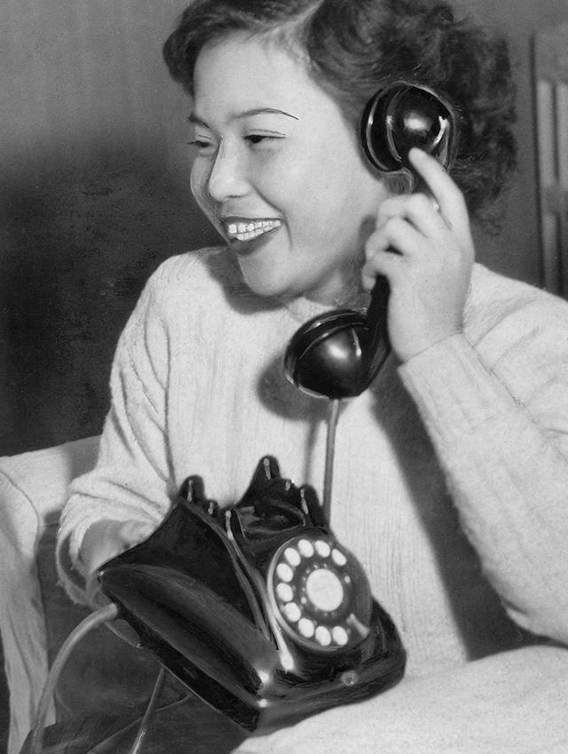 Rotary-dial telephone