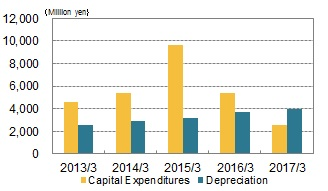 Capital Expenditures/Depreciation