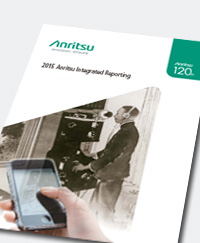 Anritsu Integrated Reporting 2015