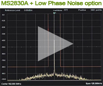Low Phase Noise option performance comparison