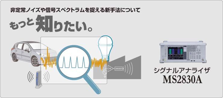 非常識ノイズや信号スペクトラムを捉える新手法