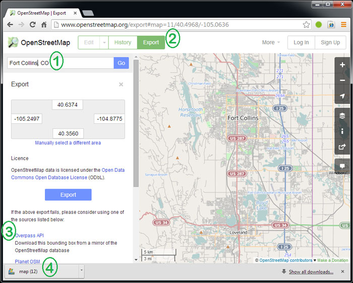 Mobile InterferenceHunter Downloading Maps