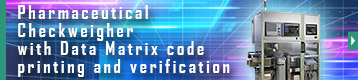 Index button of Pharmaceutical Checkweigher with Data Matrix code printing and verification