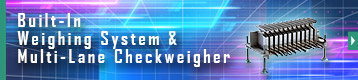 Index button of Built-In Weighing System & Multi-Lane Checkweigher