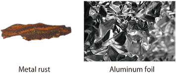 Fig.3.1: Metal rust and aluminum foil