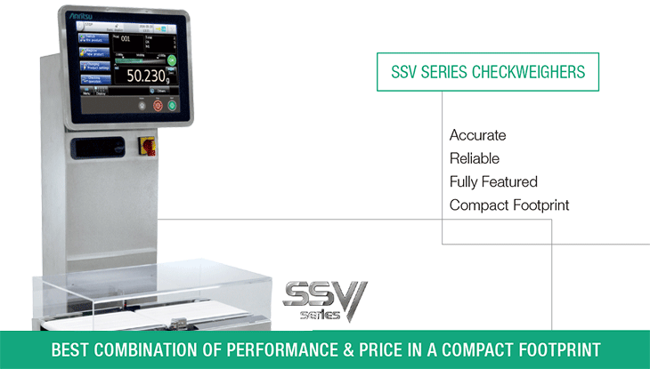 Main visual of SSV series Checkweigher