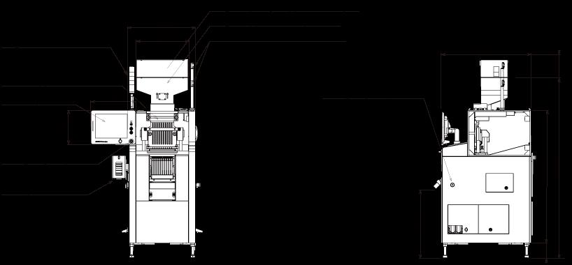 External drawing of Capsule Checkweigher KWS9002AP10