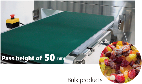 Compact design with inspection flexibility for a wide range of products