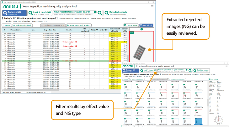 X-ray Inspection System Quality Analysis Tool
