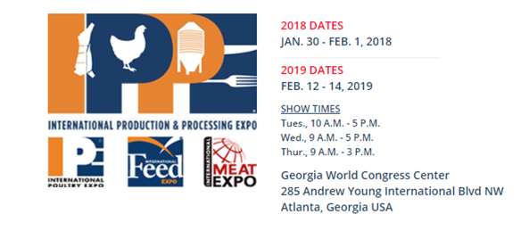 IPPE 2018 - International Production and Processing Expo