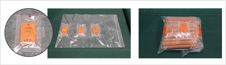 図2-1 : ポケット方式のテストピース装着治具