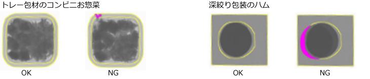 トレー包材のOK品/MG品、深絞り包装のOK品/MG品