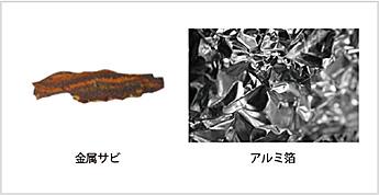 図3-1:金属サビ、アルミ箔