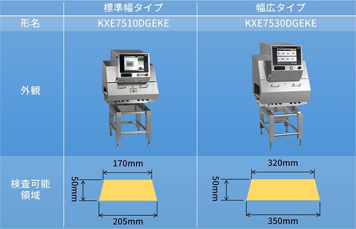 X線幅広かみこみ検査機のモデル比較