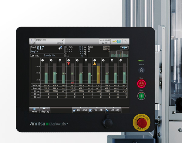 Large, intuitive touch screen GUI provides fast evaluation of production trends.