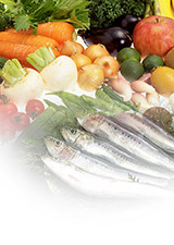 Sea foods and vegetable