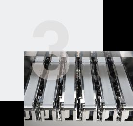 Fact 3: Minimum conveyor pitch 50 mm