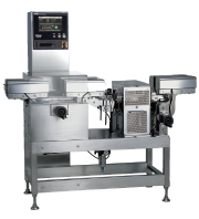 Checkweigher for bottles with small diameter