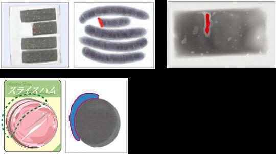 異物検出だけでなく、形状不良やかみこみなどの複合検査が可能