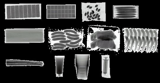 様々な商品のX線検査が可能