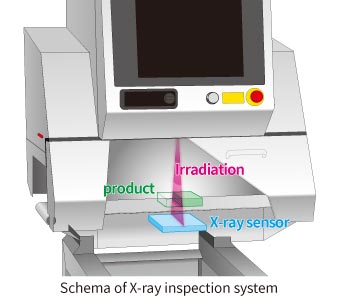 Schema of X-ray inspection system