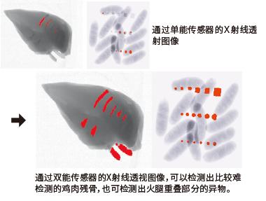 双能传感器的X射线透视图像