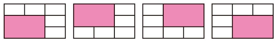 6分割の拡大レイアウトは4種類