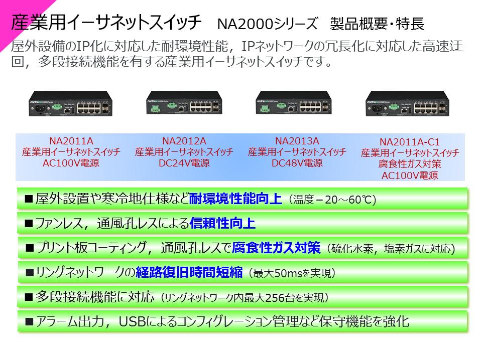 NA2000シリーズ 製品概要・特長