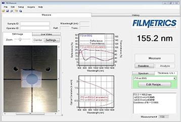 ITO膜,ポリイミド膜,PI,膜厚測定結果