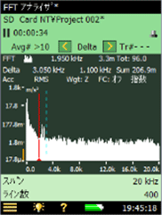 FFT振動解析測定画面