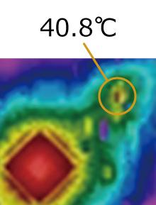 基板発熱評価の画像分解能