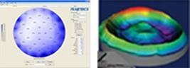 12インチ,半導体,ウェハ,高速,均一性,測定結果/膜厚,均一性,3D測定結果