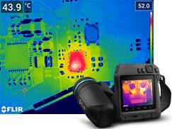 微小部の発熱箇所も見逃さず瞬時に把握高性能サーモグラフィカメラ