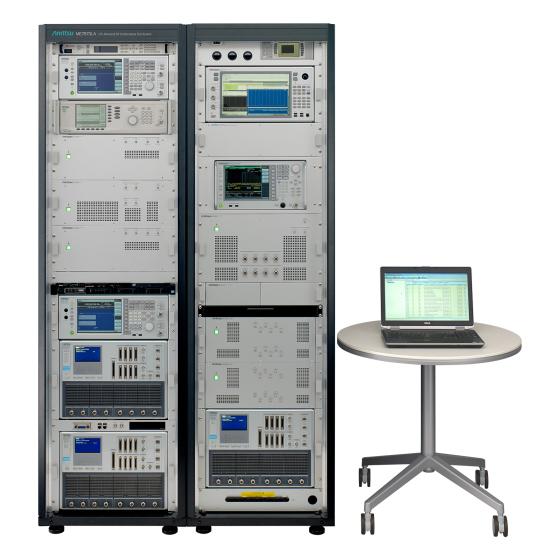 LTE-Advanced RF コンフォーマンステストシステム ME7873LA 前面(PCあり)