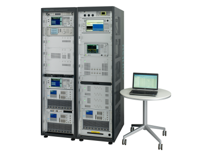 LTE-Advanced RF Conformance Test System ME7873LA full view (with PC)