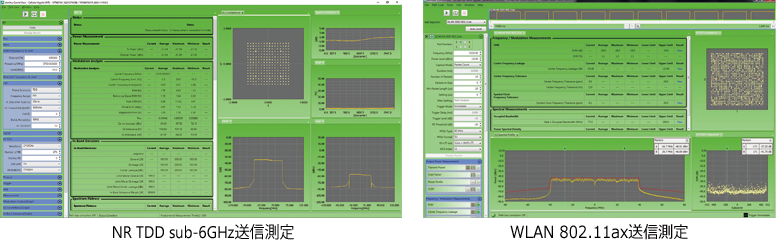 NR TDD sub6GHz送信測定、WLAN 802.11ax送信測定