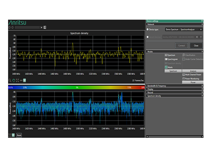Remote Spectrum Monitor SpectraVision™ Software MX280010A