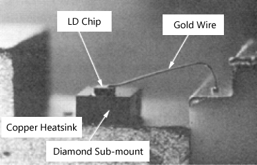 Magnification of Initial LD Chip