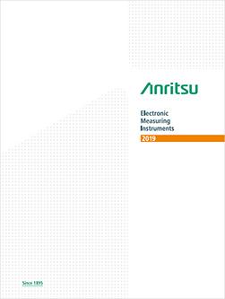 Anritsu Electronic Measuring Instruments Catalog 2019