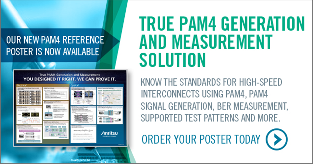 PAM4 Generation and Measurement Solution Anritsu Reference Poster