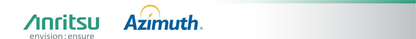 アンリツ株式会社/Azimuth Systems, Inc.