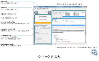 「eCall Tester」のGUIイメージ