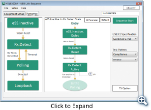Link Sequence Setting Screen