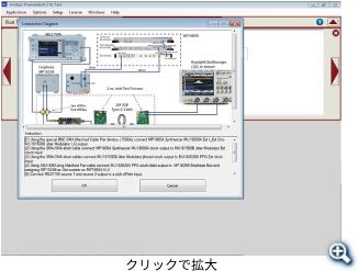 キャリブレーション設定と測定画面例