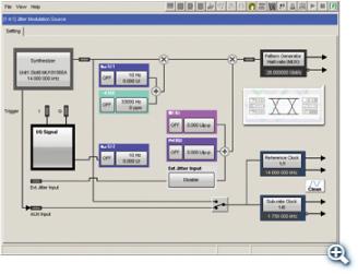 Jitter Modulation Source MU181500B Setting Screen