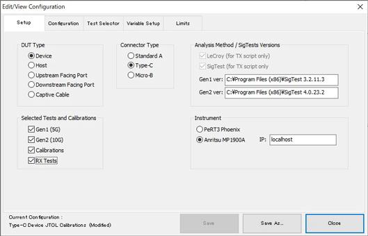 Event view configuration: USB Type-C