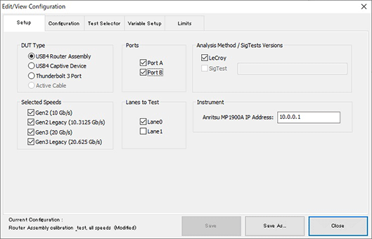 Event view configuration: USB4 Router Assembly