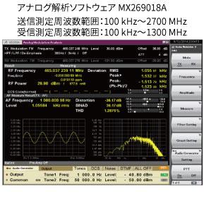 デジタル業務用無線機の自動測定ソリューション1